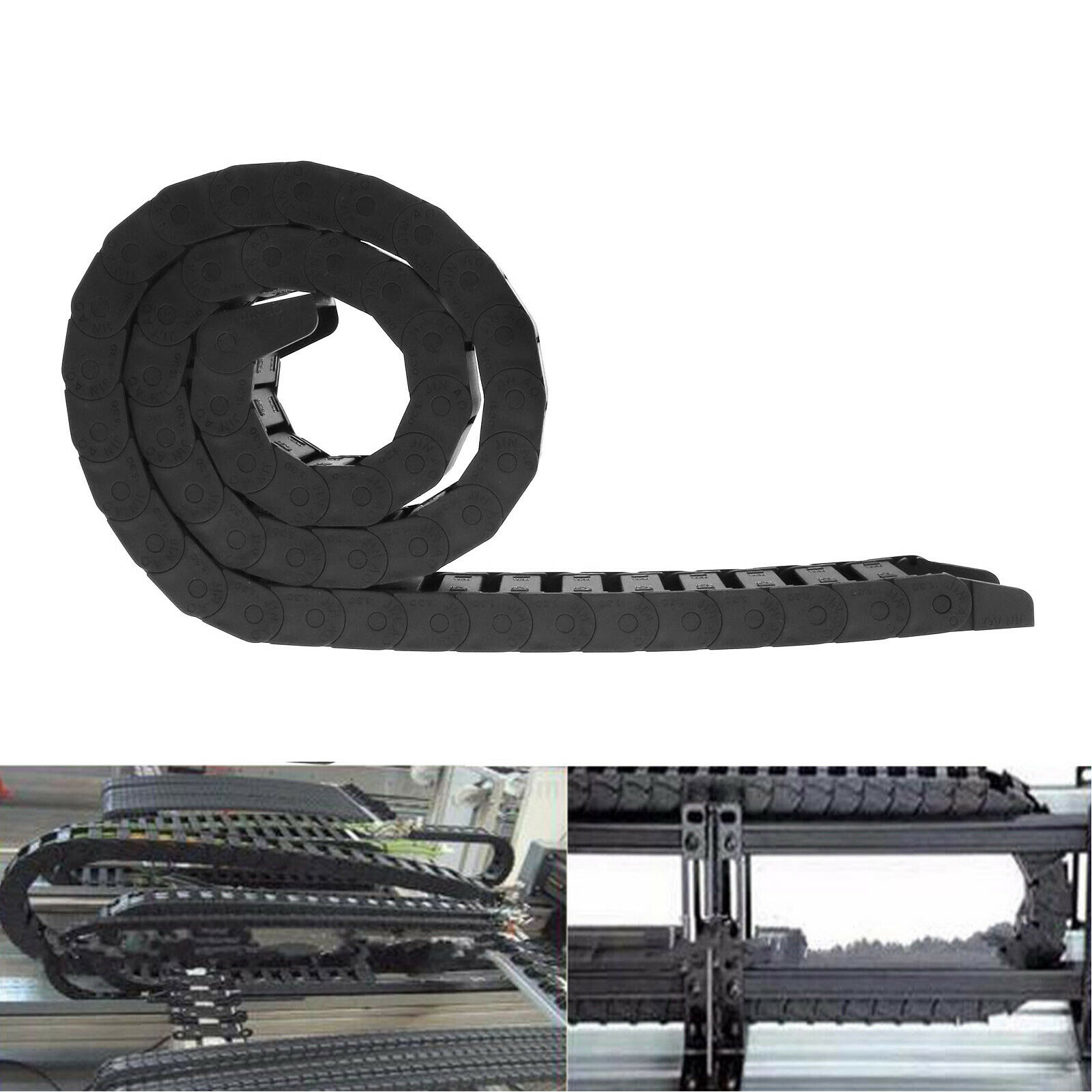 15x30mm Industrial Nylon Cable Drag Towline Chain Wire For CNC Router Machine 1M