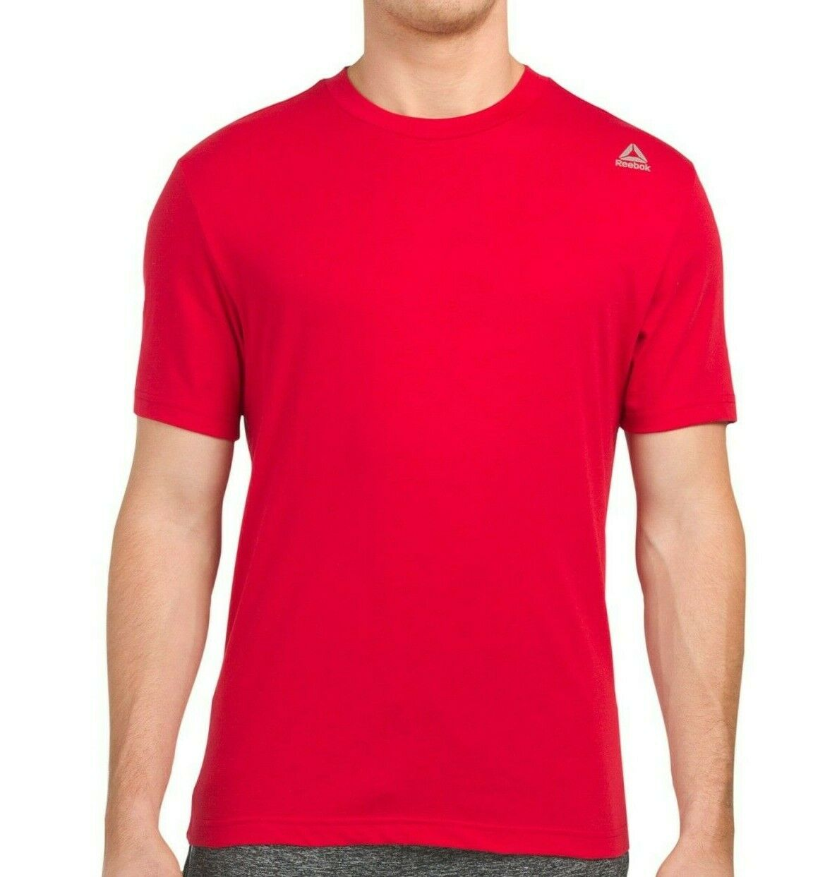 Details about  /Reebok Jolt Crew Neck Short Sleeve Gym Sport Top Tee Shirt T-Shirt Racing Red