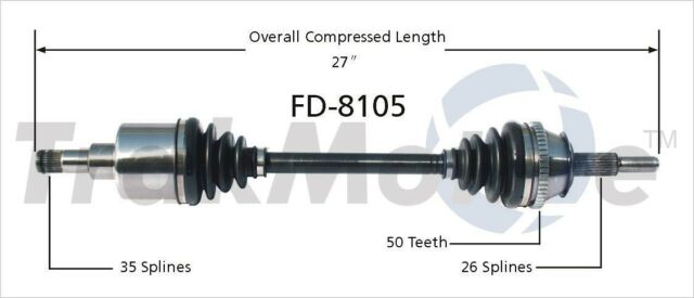 SurTrack TO-8143 CV Axle Shaft