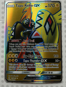 Pokemon-card-Tapu-Koko-GX-135-145-HOLO-FULL-ART-Mint-Guardians-Rising-PROXY-CARD