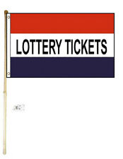 3x5 Lottery Tickets Poly Flag Banner Brass Grommets