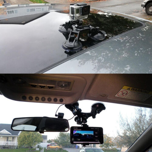 Pro Triple Suction Cup Ball Head Mount Sucker Holder for Gopro Hero 5 Camera