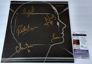 SLOWDIVE-SIGNED-VINYL-LP-SELF-TITLED-JSA-COA-autograph
