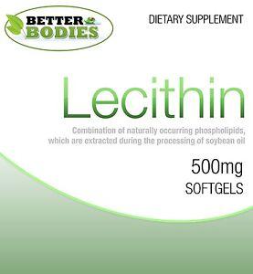 Lecitina-1200mg-Capsule-60-90-180-360-Softgels-riduce-grasso-funzione-cerebrale
