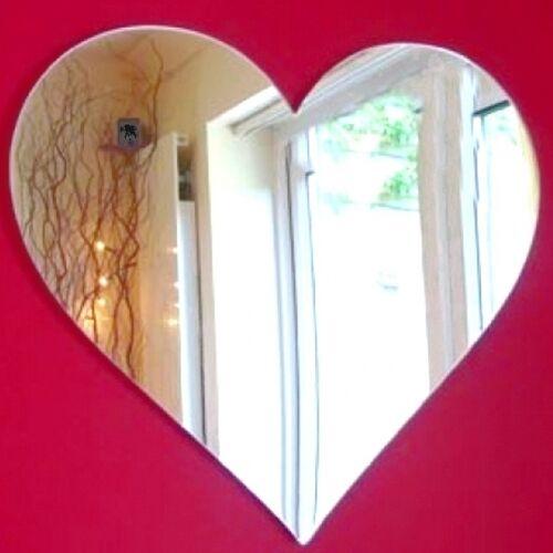 Cœur Miroir Acrylique (Plusieurs Größes Disponibles)