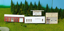 HO scale 4 OLD BUILDINGS 4 background building flat