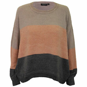 ef303de6a Details about Ladies Chenille Block Jumper Brave Soul Womens Knitted PANDA  Crew Neck Winter