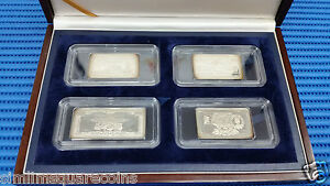 1994 Singapore 175 Years of Singapore Currencies in Sterling Silver Proof Ingot