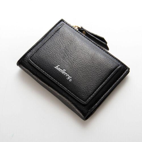 Women Clutch Wallet Coin Bag Leather Ladies Simple Bifold Small Handbag Purse