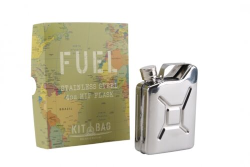 Kit Bag Fuel Can Design Stainless Steel Hip Flask Army Forces Man Novelty DES542