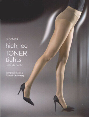 Aristoc High And Low Leg Bodytoner Tights Nude S//M M//L