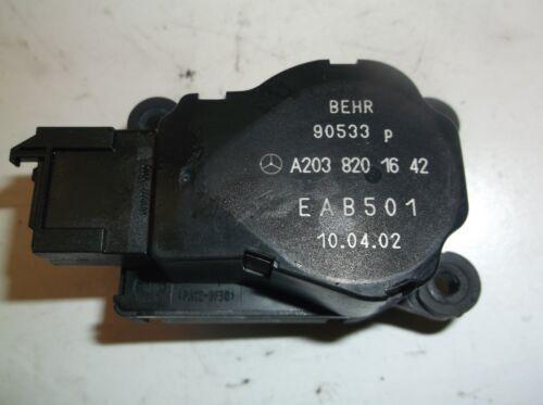NS601203 02-05 C320 HEATER AIR FLAP BLOWER MOTOR ACTUATOR A 203 820 16 42 OEM