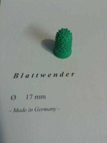 5 x Blattwender grün, 17 mm - Made in Germany - vgl. Läufer