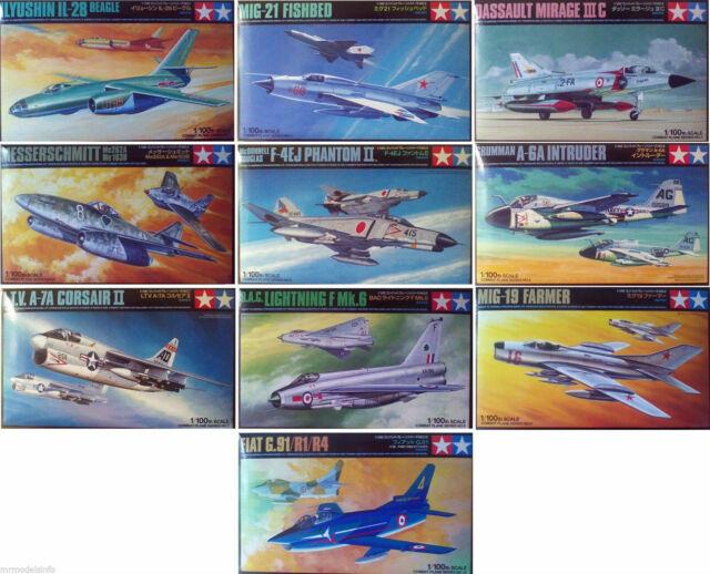 Tamiya 1/100 Aircraft Military Jets New Plastic Model Kits