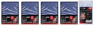 3a1db3edab7 Lot of 100 Ultra Pro 55 Point Toploaders 100 Regular Sleeves Free ...