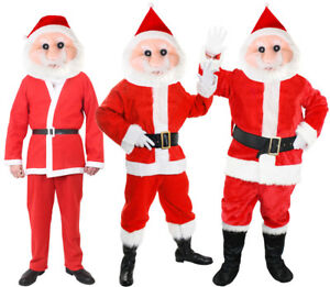 Vestito Babbo Natale Originale.Santa Mascot Costume Father Christmas Suit Fancy Dress Costume Mens