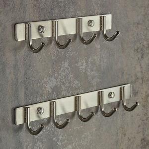 Sotech 4er Hakenleiste HOLDI 270 x 50 x 42 mm Haken-/Ø 7,5 mm Edelstahl geb/ürstet Garderobenleiste Handtuchhalter Jackenhaken von SO-TECH/®