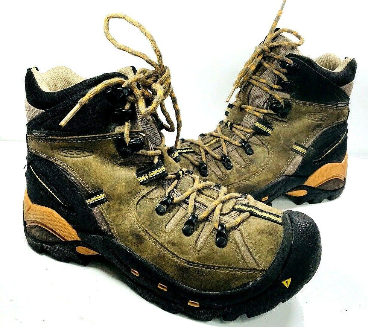Keen Pittsburgh  para Hombre Marrón Negro botas Para Excursionismo A Prueba De Agua trabajo naranja 8 5271-Brick  directo de fábrica