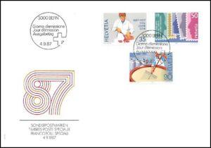 FDC-Suisse-Timbres-poste-speciaux-4-9-1987