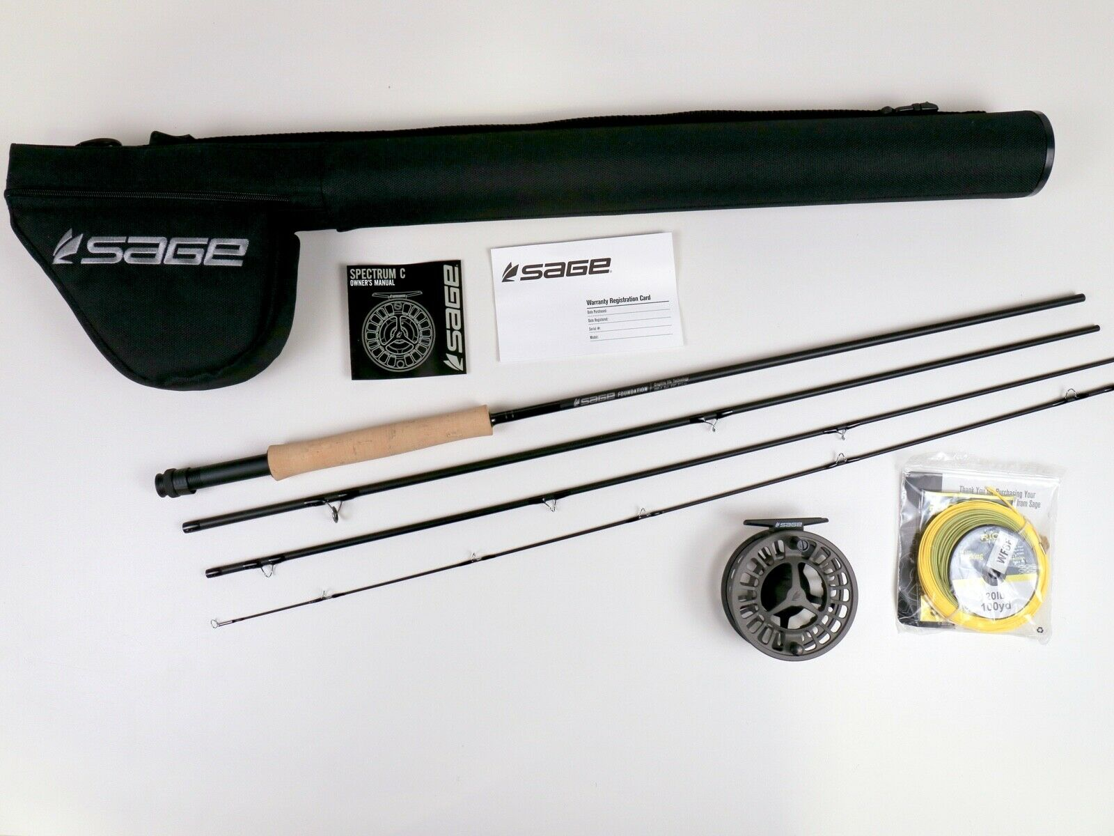 Sage Foundation Fly Rod Outfit 9 FT 7 WT FREE FAST SHIPPING 790-4