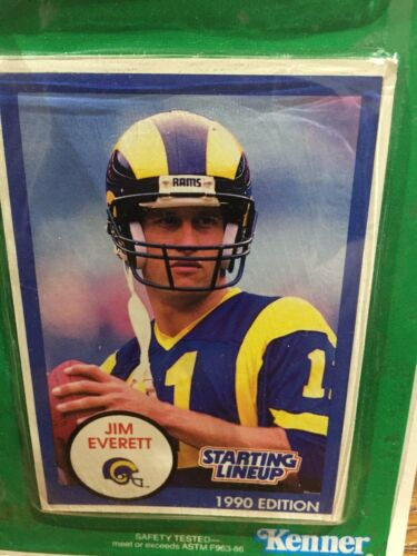 1990 Jim Everett Los Angeles Los Angeles Rams Figurine Starting Lineup 1986 ROOKIE CARTE