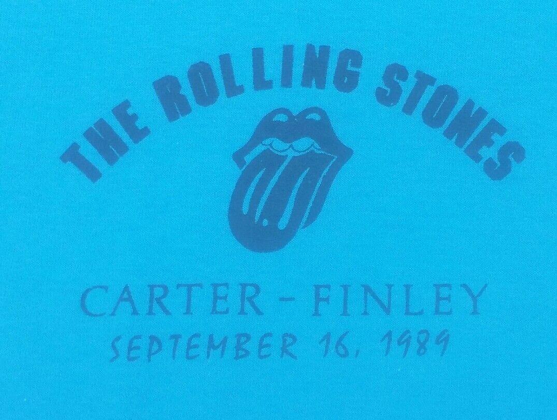 The Rolling Stones tour CARTER FINLEY STADIUM NORTH CAROLINA 1989 STAFF T-Shirt
