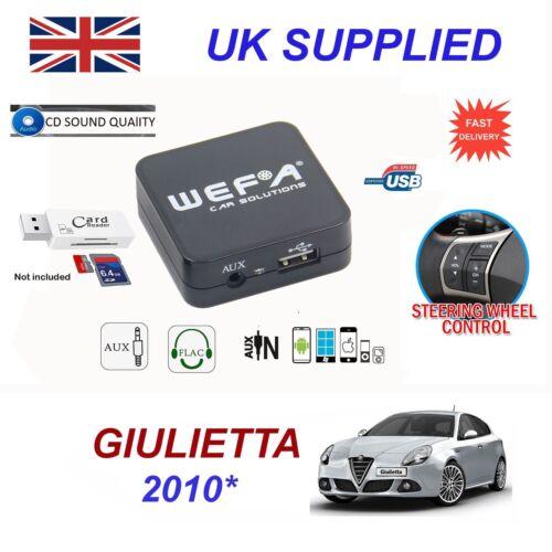 For Alfa Romeo Giulietta USB AUX SD Card Reader music streaming module 2010