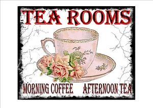 Vintage Retro Style Tea Shop Advertising Sign  door sign Tea Rooms Sign