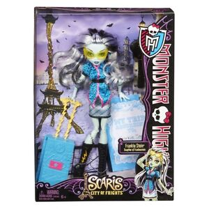 Monster-High-FRANKIE-STEIN-Doll-Scaris-City-of-Frights-Travel-Ghoul-Original-NEW