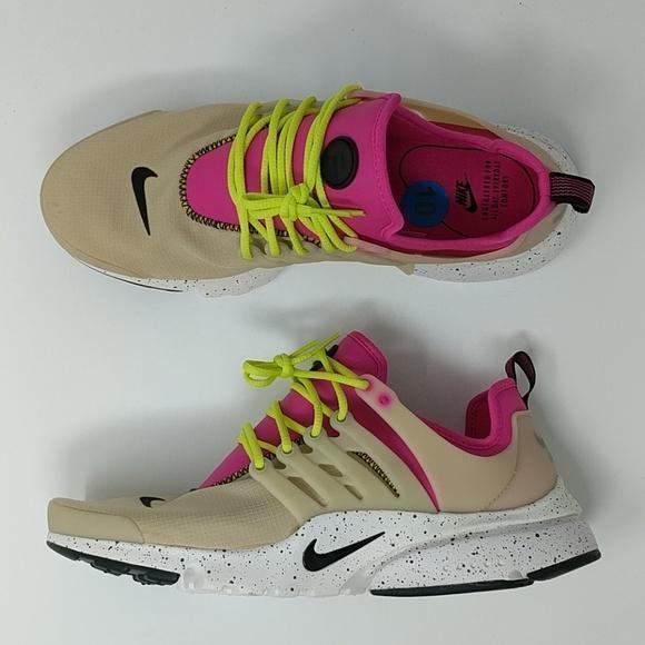 Nike Air Presto Ultra SI Womens Mushroom  Deadly Pink-Black 917694-200 New
