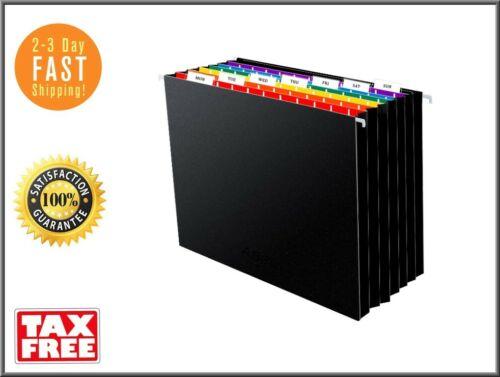 7 Pockets for Filing Cabinet//Accordion File Box Hanging File Folders Letter Sz
