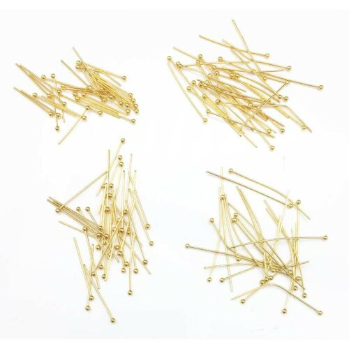 200pcs//lot  4 sizes Mixed 316l stainless steel Ball End Head Pins 20//25//30//40mm