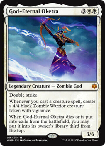 1x x1 English -BFG- MTG Magic War of the Spark Near Mint God-Eternal Oketra