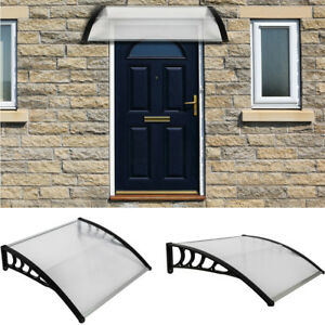 Details About Diy 40 X 30 Window Awning Front Door Canopy Abs Cover Yard Garden Black