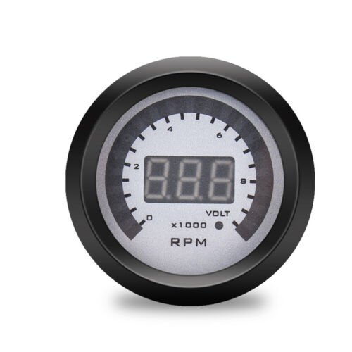 Voltmeter Gauge RPM meter 0-9999RPM 12V 52mm 2 in 1 Car Digital Tachometer