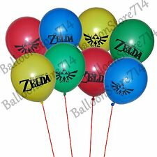 """16 LARGE 12"""" Latex Legend of Zelda Themed Balloons ~ Birthday Party Decorations"""