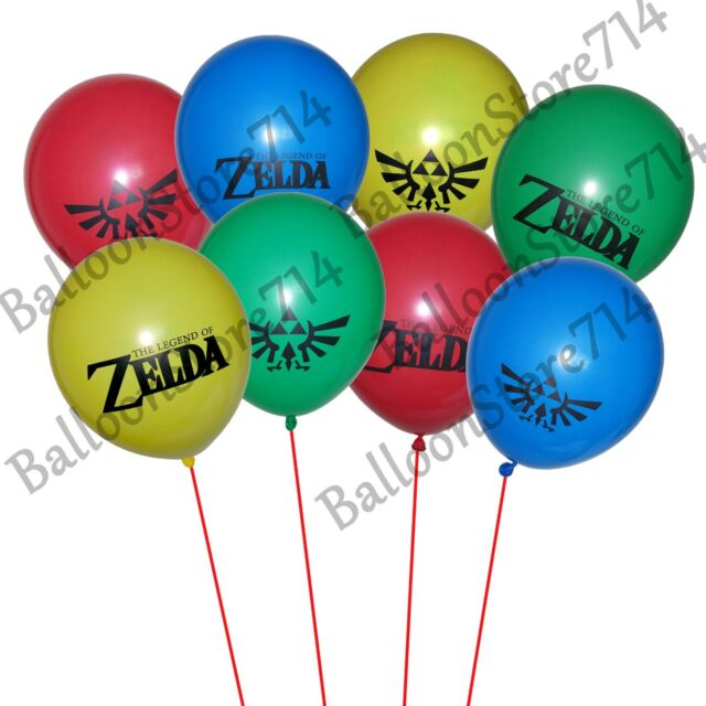 16 LARGE 12 Latex Legend Of Zelda Themed Balloons Birthday Party Decorations