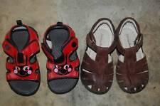 2 Pr Lot Lady Bug Red Black Sandals Toddler Girl 7 HANNA ANDERSSON Fisherman 24