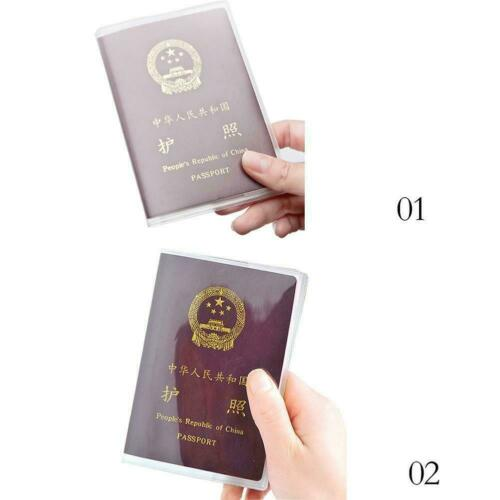 Clear Transparent Passport Cover Holder Case Organizer ID Card-Travel Fast