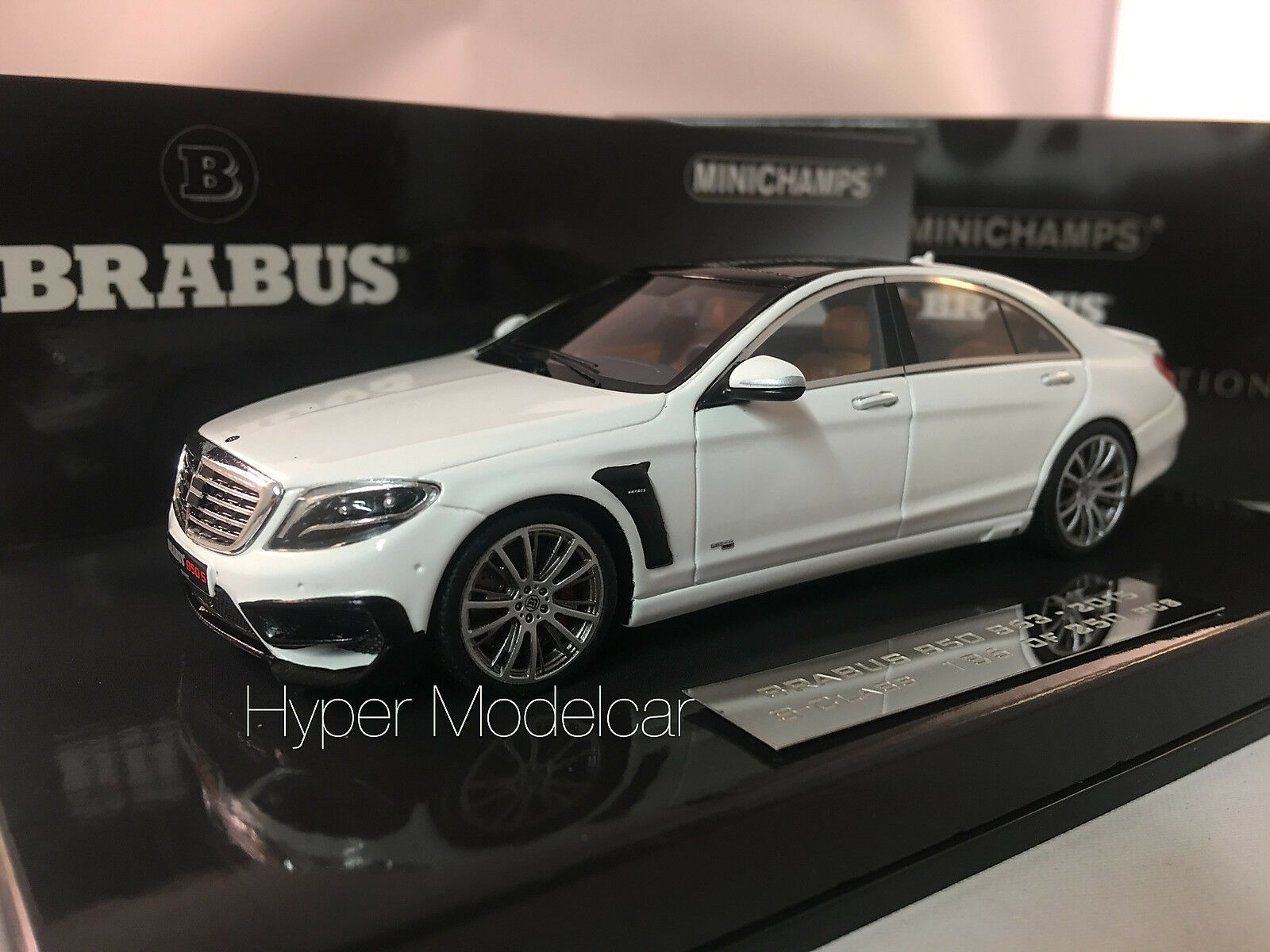 Minichamps 1 43 Mercedes-Benz S-Class 850 Brabus S63 2015 bianca Met.437034201
