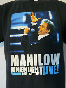 BARRY-MANILOW-CONCERT-TEE-SHIRT-vtg-TOUR-ONE-LAST-Time-2004-LIVE-fan-music-black