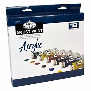 Royal-and-Langnickel-Acrylique-Peinture-Art-Set-de-18-2-Brosses