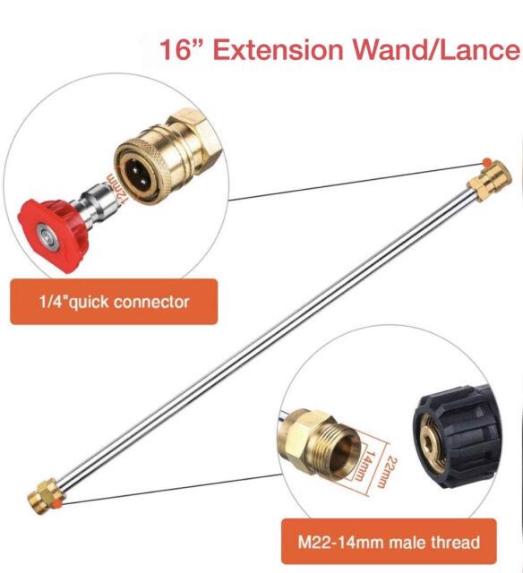 Retrojet Nozzle M22 Male coupling CLARKE Professional 7m Flexible Drain Hose