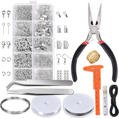 New  Jewelry Making Findings Lot Crafts Supplies Beads Accessories Tools Kit//SET