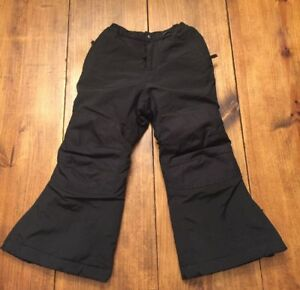 9435c3e84 Lands End Snow Ski Pants Kids Boys Girls Black Size 4 Insulated ...