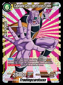 VF ♦Dragon Ball Super♦ Capitaine Ginyu des Forces d/'élite BT1-095 SR