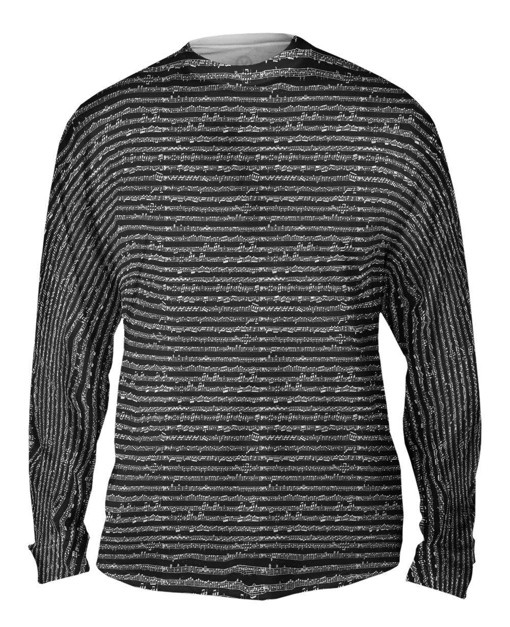 Yizzam - Sheet Music Notes -  Wolfgang Amade  -  New Mens Long Sleeve Shirt 2162