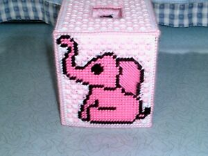 How to crochet a cute Elephant Tissue Box Cover - Free Pattern | 225x300