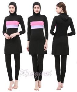 Women-Swimwear-Full-Cover-Swimsuit-Muslim-Islamic-Burkini-Beachwear-Modest-Arab