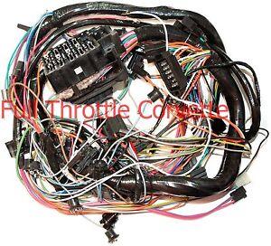 1974 corvette dash wiring harness without a c new ebay rh ebay com wiring diagram for 1974 corvette